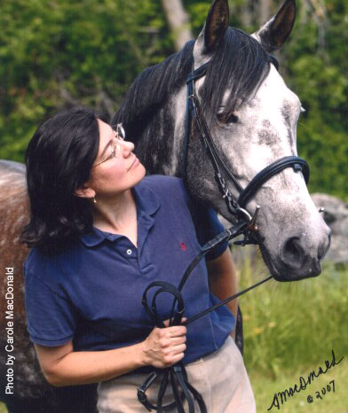 Dr. Stephanie Torlone and horse